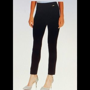 Anne Klein Skinny Compression Black Pants XL NWT